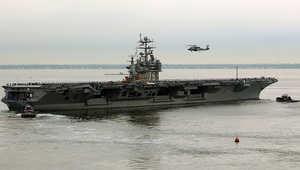 """في تحرك """"غير عادي"""".. واشنطن: طائرة إيرانية دون طيار حلقت فوق حاملة طائرات أمريكية في الخليج"""