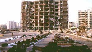صورة أرشيفية للمبنى بعد تفجيره في الخبر