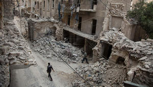 شاهد.. من حلب أم من لعبة فيديو؟ السفارة الروسية تثير الجدل بصورة أسلحة كيماوية