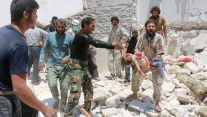 """المرصد السوري: مقتل 436 مدنيا بينهم 170 طفلا وامرأة وإصابة 2500 في حلب خلال 43 يوما من """"القصف الهستيري"""""""