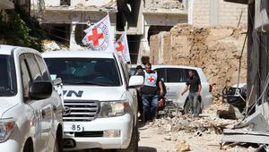 المرصد السوري: النظام يقصف داريا بعشرات البراميل المتفجرة بعد ساعات من دخول مساعدات إنسانية
