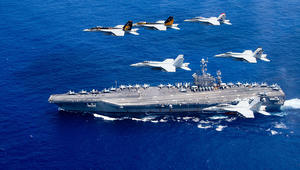 """مسؤول بالبحرية الأمريكية: طائرة موجهة إيرانية """"ناورت بخطورة"""" بالخليج"""