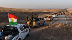 القوات الكردية تصل بعشيقة وتقترب من الموصل