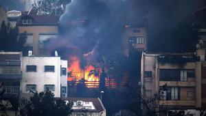 حرائق إسرائيل.. إجلاء عشرات الآلاف من حيفا ونتنياهو يتوعد