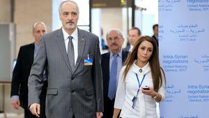 الجعفري يحذر وفد المعارضة السورية ويطالبهم بإدانة هجوم حمص