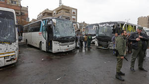 مقتل وإصابة 160 عراقيا إثر تفجيرين قرب مقبرة باب الصغير في دمشق