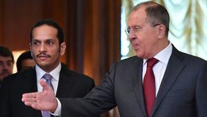 وزير خارجية قطر في روسيا بعد ألمانيا:إطار مجلس التعاون هو الأنسب لحل الخلاف.. ولافروف: لا نتدخل بشؤون غيرنا عادة ولكن..