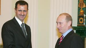 """وسط تنديد دولي بـ""""المجازر"""".. الأسد يهنئ بوتين بـ""""عيد النصر الروسي"""": حلب السورية تعانق """"ستالينغارد البطلة"""""""