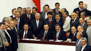صورة خلال انتخابات رئاسية بأنقرة في آبريل 2007