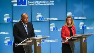 شكري: هذا سبيل قطر لحل الأزمة.. وموغيريني: حماية حقوق الإنسان طريق تحقيق الأمن والاستقرار