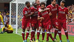 صلاح يسجل أول أهدافه مع ليفربول في الدوري الإنجليزي