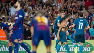 ريال مدريد يكتسح برشلونة رغم طرد رونالدو