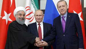 بوتين يتفق مع أردوغان وروحاني على تنظيم مؤتمر حوار وطني سوري