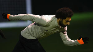 محمد صلاح يسجل هدفا مذهلا خلال تدريبات ليفربول استعدادا لويست هام