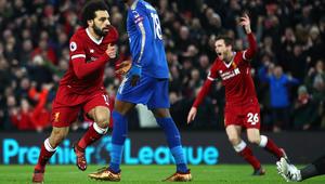 محمد صلاح يقود ليفربول لقلب الطاولة على ليستر سيتي ويقترب من كين