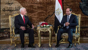 """""""الأمريكيان المسجونان بمصر"""" بمحادثات بنس والسيسي"""