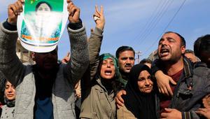 صورة في بلدة عفرين تظهر عائلة المقاتلة بارين كوباني التي تم قتلها وتقطيعها أشلاء