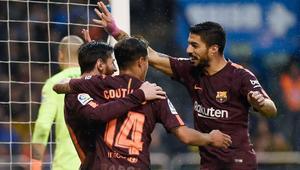 برشلونة يودع إنييستا باللقب الـ25 في الدوري الإسباني قبل 3 جولات من النهاية