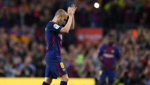 """برشلونة وريال مدريد يتعادلان في """"الكلاسيكو"""" الأخير لإنييستا"""
