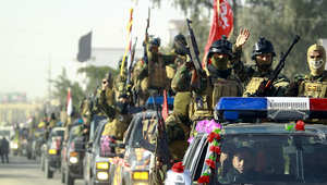 الجيش العراقي ومسلحين من السنة والشيعة يوجهون ضربات لداعش الاثنين ويدفعون باتجاه تكريت