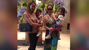 غادة عبدالرازق تنشر صورة لها برفقة ابنتها وحفيدتيها