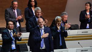 انتخابات الفيفا: انفانتينو يفوز برئاسة الاتحاد الدولي لكرة القدم