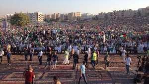 """مهرجان الإخوان المسلمين في الأردن احتفالا """"بانتصار حماس""""، عمان 29 أغسطس/ آب 2014"""