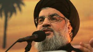 """نصرالله: حزب الله موجود بالعراق واللعبة انتهت بسوريا.. وأبوبكر البغدادي يريد مكة والمدينة لتصح """"خلافته"""""""