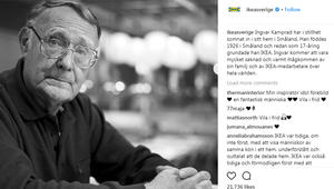 """وفاة مؤسس متاجر """"أيكيا"""" انغفار كامبراد بعمر 91 عاماً"""