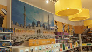 أطفال يصنعون لوحة ضخمة لمسجد الشيخ زايد باستخدام 151 ألف قطعة من الليغو