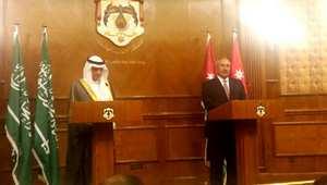 وزير الخارجية السعودي عادل الجبير(يسار) في مؤتمر صحفي مشترك مع نظيره الأردني ناصر جودة، عمان 9 يوليو/ تموز 2015