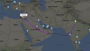 وصول أول طائرة من الهند إلى إسرائيل عبر أجواء السعودية