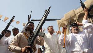 من رجال القبائل العراقية الذين تطوعوا للقتال بمواجهة داعش