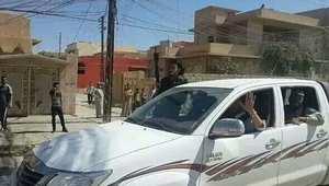 """إحدى سيارات """"داعش"""" في بلدة سنجار"""