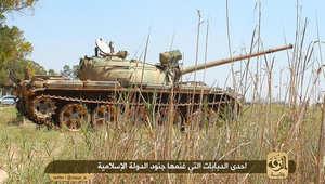"""صورة منشورة على موقع """"ولاية الرقة"""" بفيسبوك لدبابة استولت عليها """"داعش"""""""