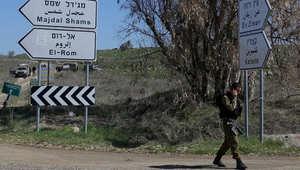 من الأرشيف: جندي إسرائيلي ضمن دورية تحرس قرب الحدود مع سوريا