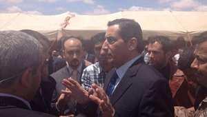السفير الأردني في ليبيا فواز العيطان في مطار عمان بعد أن أفرج عنه خاطفوه في ليبيا