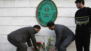 من احتجاجات خارج سفارة السعودية في طهران