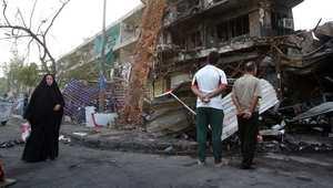 موقع تفجير في حي الكرادة ببغداد 25 يوليو/ تموز 2014