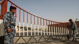 جنديان عراقيان عند نقطة حدودية