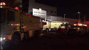 سيارات الإطفاء والإسعاف تجمعت في موقع الحادث