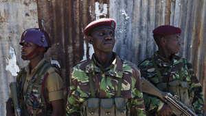 مجموعة من الجنود الكينيين بصورة ارشيفية