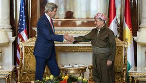 برزاني لدى استقباله وزير الخارجية الأمريكي