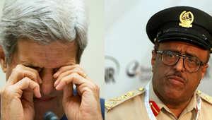 ضاحي خلفان نائب رئيس شرطة دبي وجون كيري وزير الخارجية الأمريكي