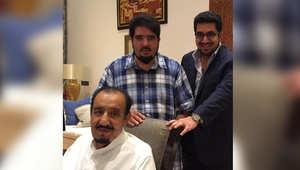 """صورة للملك سلمان من المغرب مع """"نواف بن فيصل"""" و""""عبدالعزيز بن فهد"""""""