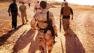 عناصر كردية قرب مناطق التماس مع مجموعات داعش بالعراق