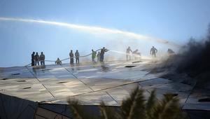 اندلاع حريق هائل في دار الأوبرا الكويتية