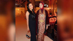 لاميتا فرنجية بالحجاب في عرض أزياء إسلامي