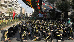 عدد من الشيعة في لبنان خلال مراسم عاشوراء