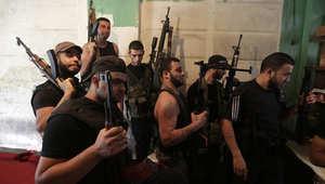 مقاتلون سنة في لبنان